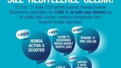 Türk Hayat Emeklilik  Honda Activa S Scooter Çekiliş Sonucu