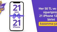 Getir iPhone 12 Çekilişi
